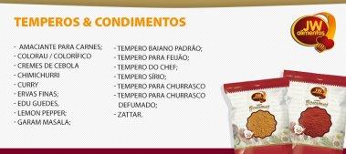 Temperos, Condimentos, Especiarias, Grãos e Vegetais Desidratados - Food Service